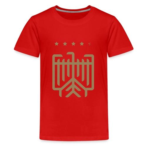 Deutsches WM T-Shirt (gold) - Teenager Premium T-Shirt