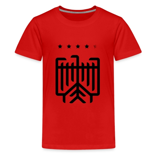Deutscher WM-Shirt (schwarz) - Teenager Premium T-Shirt