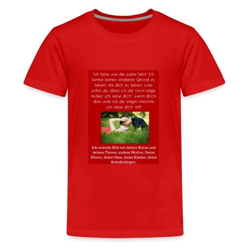 1 T-Shirt Geschenk, Geschenkidee, ändern s. unten - Teenager Premium T-Shirt