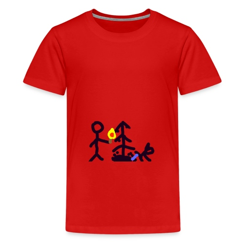 Light Christmas tree - Teenager Premium T-Shirt