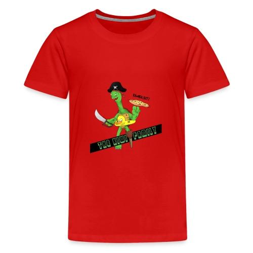 The kiwi family logo - Premium T-skjorte for tenåringer