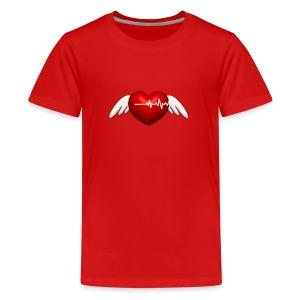 Lebensretter Herz mit Flügel - Teenager Premium T-Shirt