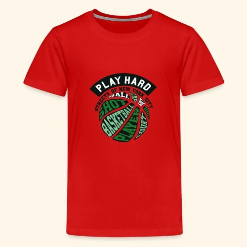 Spiele Hart Basketball . Eine gute Geschenkidee - Teenager Premium T-Shirt