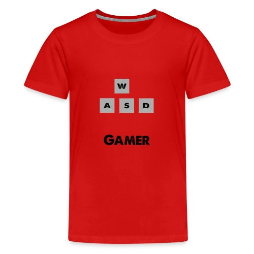 W, A, S, D Gamer - Teenage Premium T-Shirt