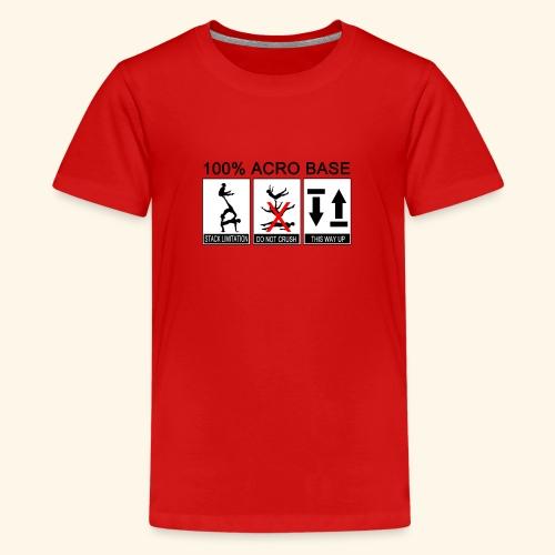 100% Acro Base - Women - Teenage Premium T-Shirt