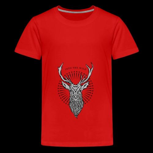 Hirsch - Into the Wild - Teenager Premium T-Shirt