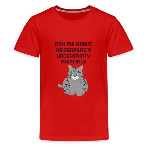 The Uncertain Cat - Teenage Premium T-Shirt