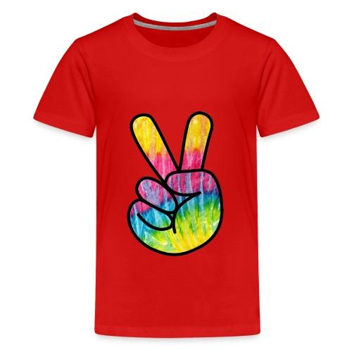 Peace Out Dude - Teenage Premium T-Shirt