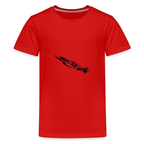 World War Spitfire - Teenage Premium T-Shirt