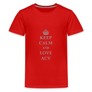 Keep Calm and Love ACV - Schriftzug - Teenager Premium T-Shirt