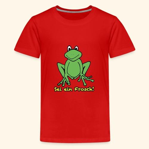 Ein kleiner grüner Frosch! - Teenager Premium T-Shirt
