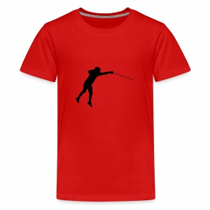 Jumping Fencer - Teenager Premium T-Shirt