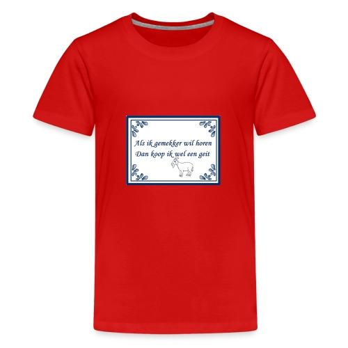 Tegeltje-Geit - Teenager Premium T-shirt