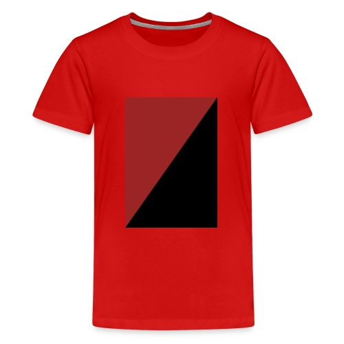 Schwarz/Rot - Teenager Premium T-Shirt