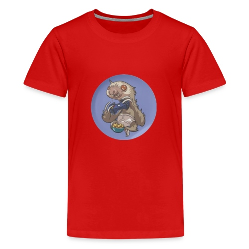 SlothGamer Channel Logo - Teenage Premium T-Shirt