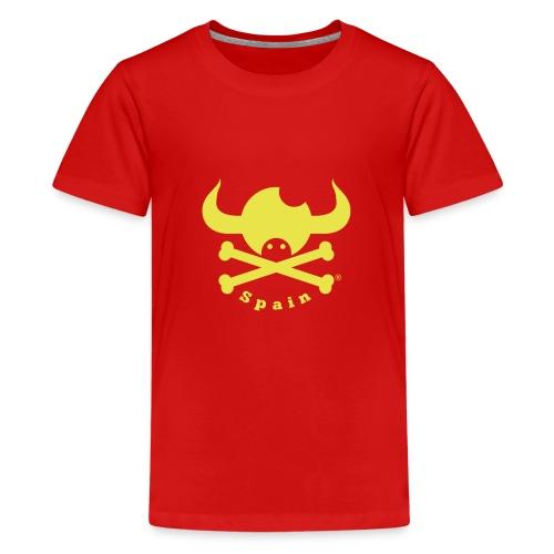 DISEÑO QUIJOTES BASICO AMARILLO SPAIN - Camiseta premium adolescente