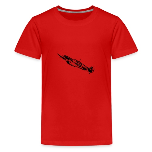 World War Spitfire - Teenage Premium T-Shirt
