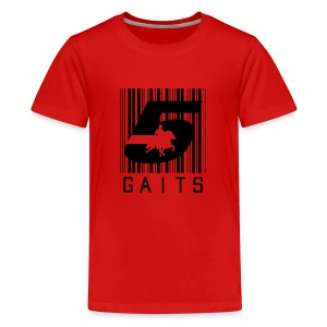 5gaitsBarcode 1 - Teenage Premium T-Shirt