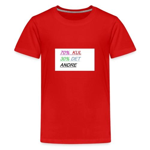 kul - Premium T-skjorte for tenåringer