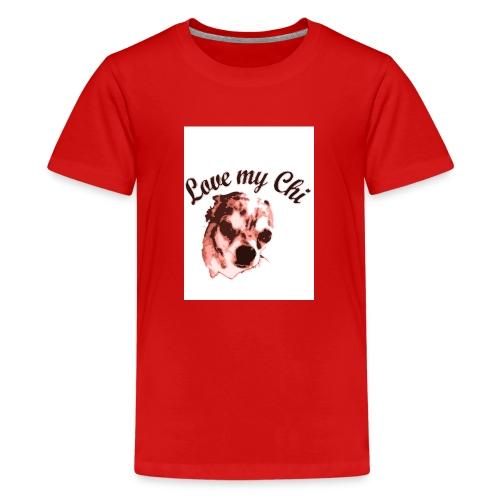 love my chi 1 - Teenager Premium T-Shirt