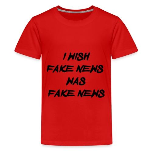 fake news black - Teenager Premium T-shirt