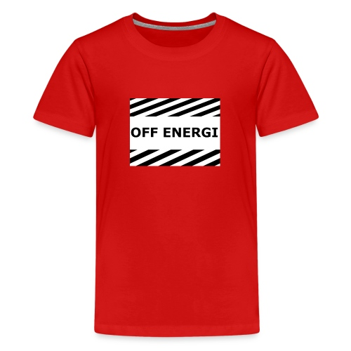 OFF ENERGI officiel merch - Premium-T-shirt tonåring