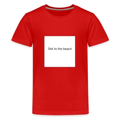dog bandana get to the beach - Teenage Premium T-Shirt