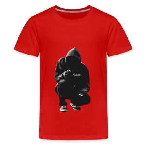 Kunce Clothing Original Hoodie B/W Trace - Teenage Premium T-Shirt