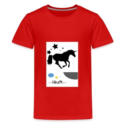 Pferd läuft - Teenager Premium T-Shirt