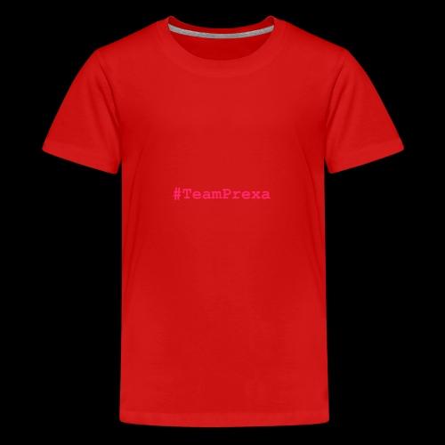 Pink #TeamPrexa LOGO - Teenager Premium T-Shirt