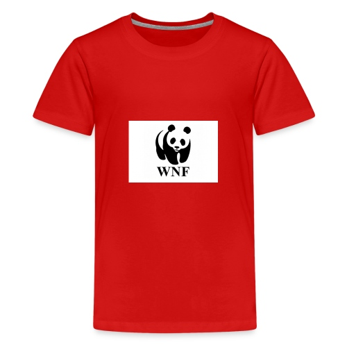 wnf logo panda - Teenager Premium T-shirt