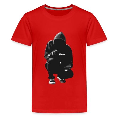 Kunce Clothing Original Hoodie B/W Trace - Teenage Premium T-Shirt