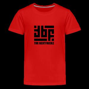 the beatfreekz logo 3 black - Teenager Premium T-Shirt