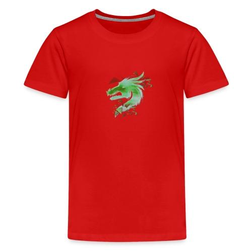 Green Dragon - Teenage Premium T-Shirt