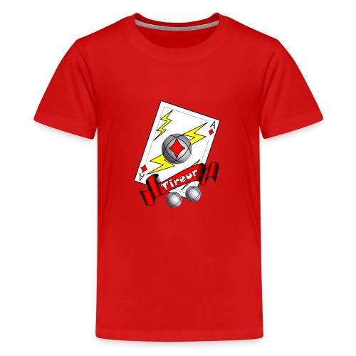 t shirt petanque tireur as du carreau boules - T-shirt Premium Ado