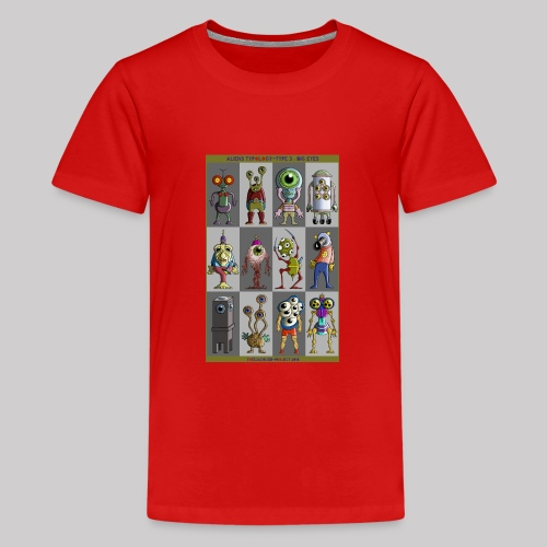 ALIEN TYPOLOGY TYPE 3: BIGEYES - T-shirt Premium Ado