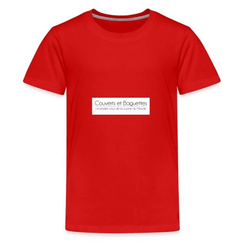 Couverts et Baguettes - T-shirt Premium Ado