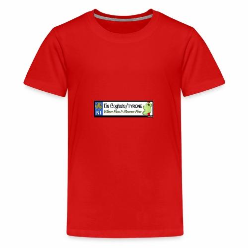 TYRONE, NORTHERN IRELAND licence plate tags decal - Teenage Premium T-Shirt