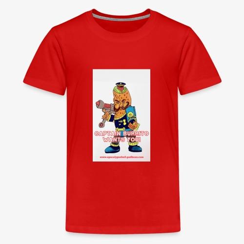 Captain Burrito - Teenage Premium T-Shirt