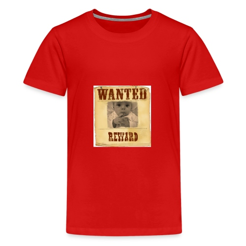 Wanted-Reward - Maglietta Premium per ragazzi