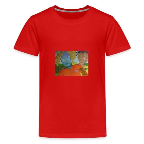 krishna red shirt - Teenage Premium T-Shirt