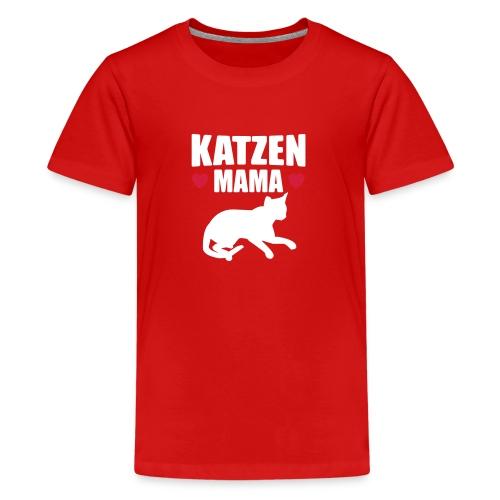Katzen Mama - Cat Mom - Katze - Teenager Premium T-Shirt