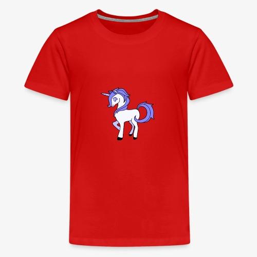 Lila Einhorn - Teenager Premium T-Shirt