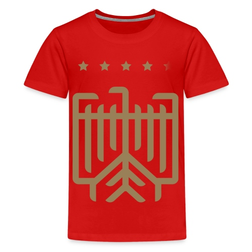 Deutsches WM T-Shirt (gold) - Teenager Premium T-Shirt