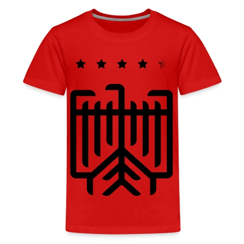 Deutscher WM-Shirt (schwarz) - Teenager Premium T-Shirt