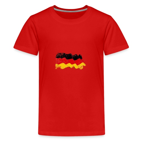 Deutschland Flagge - Teenager Premium T-Shirt