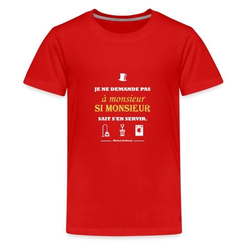 Citation Michel Audiard - T-shirt Premium Ado