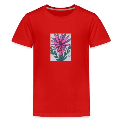 Flor - Camiseta premium adolescente