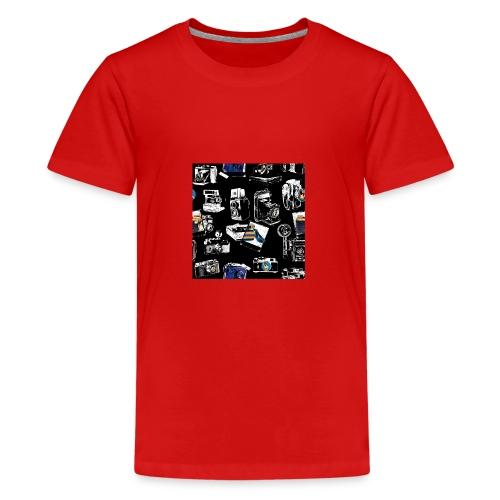 Vintage Kameraer - Premium T-skjorte for tenåringer