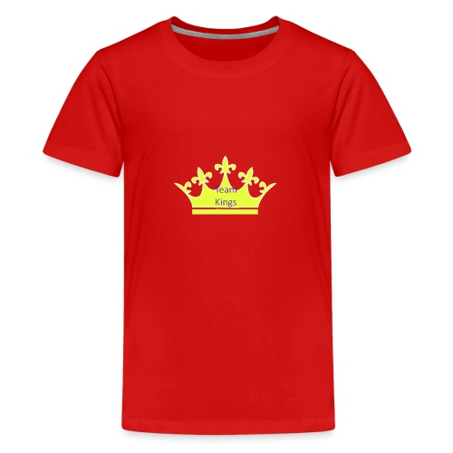 Team King Crown - Teenage Premium T-Shirt